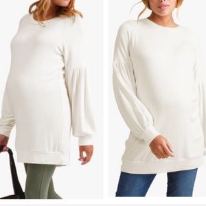 NWT Ingrid And Isabel Cozy Puff Sleeve Tunic Med